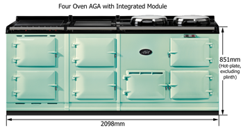 Four Oven AGA with Integrated Module