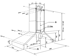 AGA Super Extractor Dimensioned Drawing