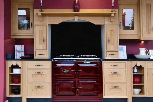 Three Oven Claret AGA in a recess / Chimney / fireplace
