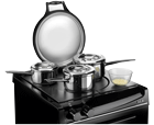 AGA 60 Hotplate with pans