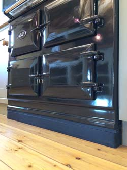 Three Oven AGA Cooker on a black metal plinth