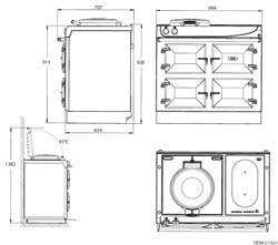 AGA 3 Series Dimensioned Line Drawing