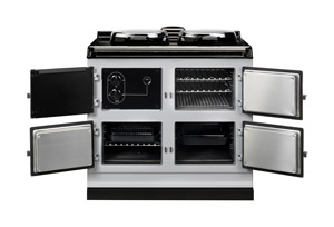 AGA Dual Control Cooker DC3 with doors open