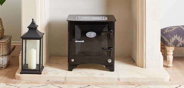 Gloss Black Everhot Electric Stove