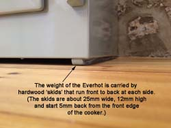 Everhot Cooker support skid