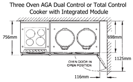 AGA Dual Control or Total Control with Integrated Module Plan View