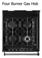AGA Module - Four burner gas hob