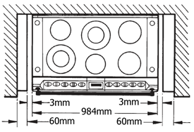 AGA S-Series Six-Four Cooker Plan View